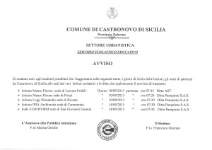 AVVISO INERENTE AL SERVIZIO DI TRASPORTO ALUNNI PENDOLARI