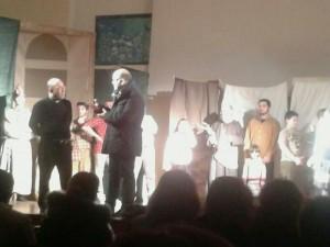 """Momenti del Musical """"LA CAREZZA FRANCESCANA DI DIO. Il volto di Fra Vitale Lino da Castronovo"""""""
