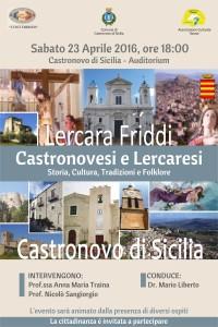 "Castronovesi e Lercaresi ""Auditorium"" 23 aprile ore 18"