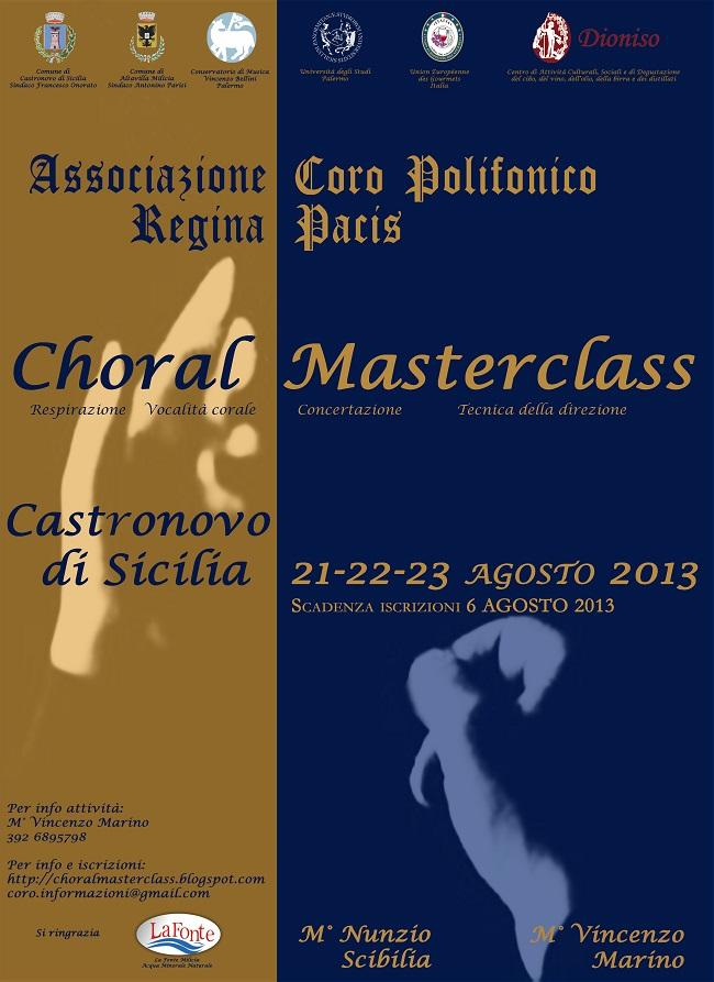 Choral Masterclass 2013 - Castronovo di Sicilia