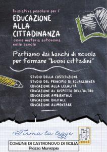 """Iniziativa popolare """"EDUCAZIONE ALLA CITTADINANZA"""""""