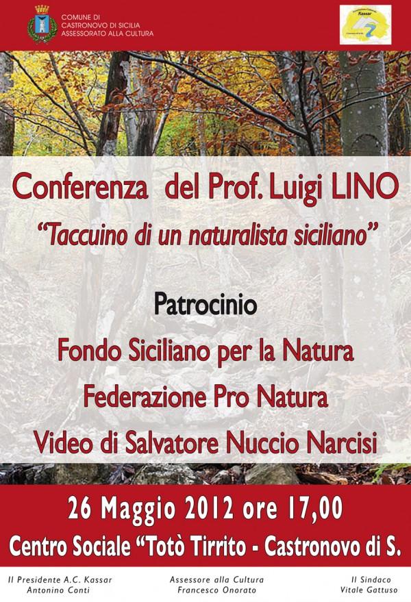"""""""Taccuino di un naturalista siciliano"""", conferenza di Luigi Lino"""