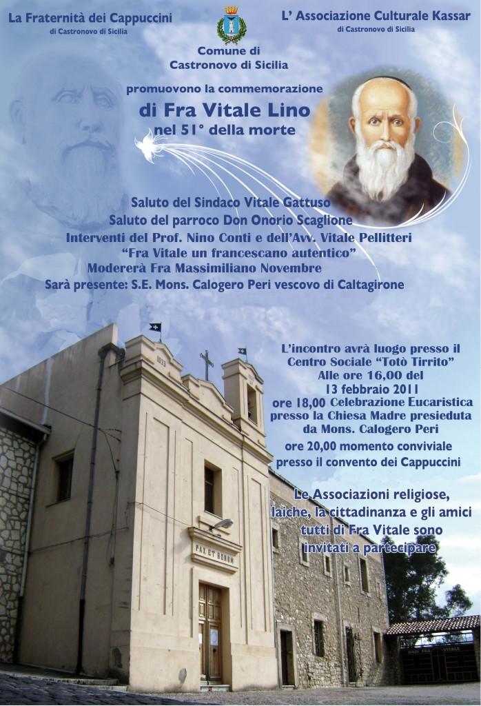 Commemorazione di fra Vitale Lino