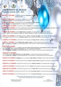 PROGRAMMA DELLE FESTIVITA' NATALIZIE 2015-16