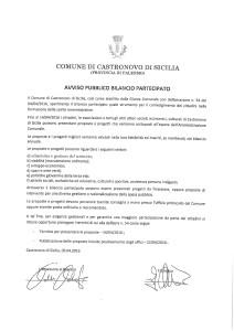 AVVISO PUBBLICO BILANCIO PARTECIPATO