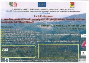 """Tavoli partecipativi di pianificazione territoriale forestale """" Area Monti Sicani"""""""