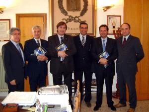 Castronovo: il presidente della Provincia, Giovanni Avanti, consegna i lavori per la Sp 123 di Piedigrotta