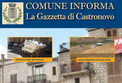 Il Comune Informa, La Gazzetta Di Castronovo. Ora Scaricabile Anche Online