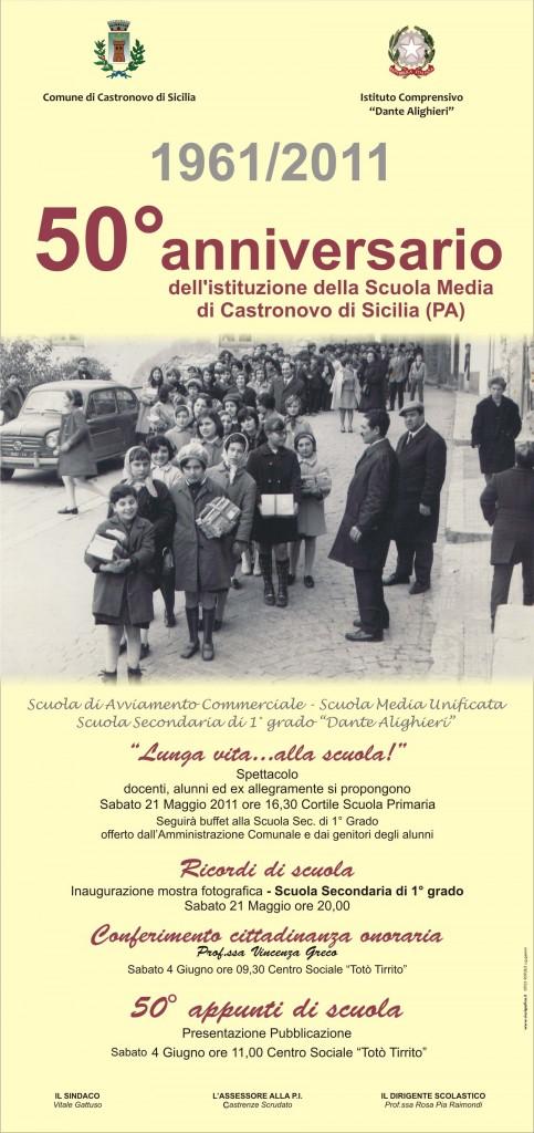 50° anniversario dell'istituzione della scuola media castronovese