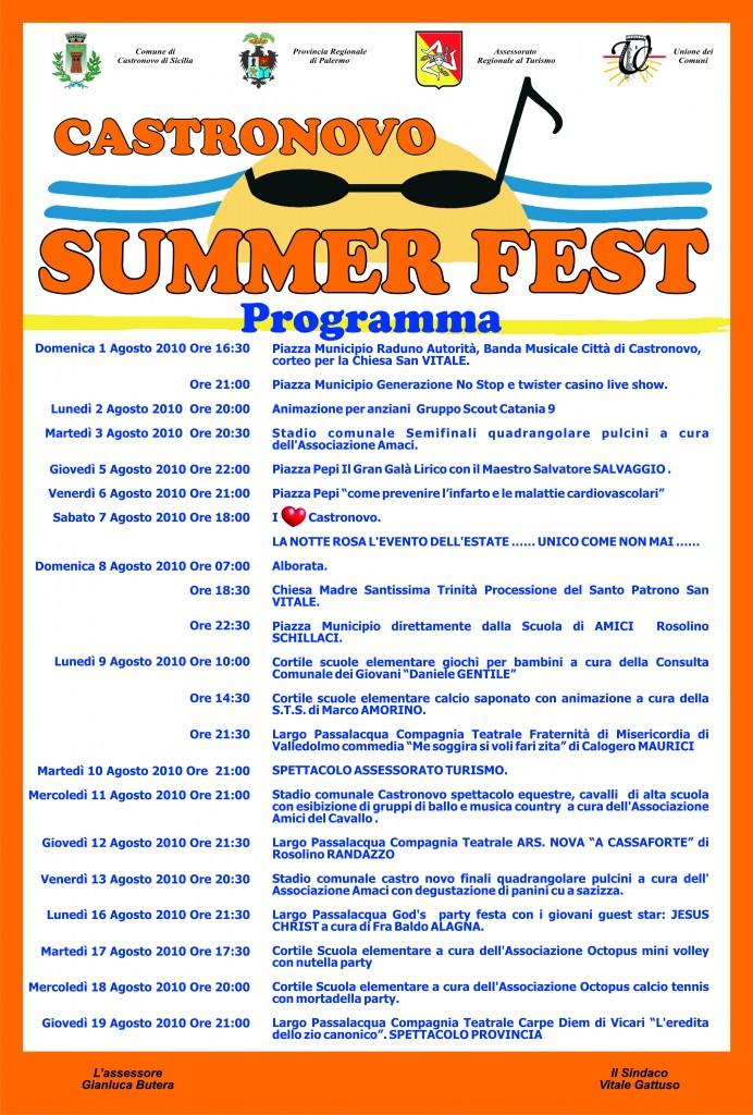 Castronovo Summer Fest: il programma