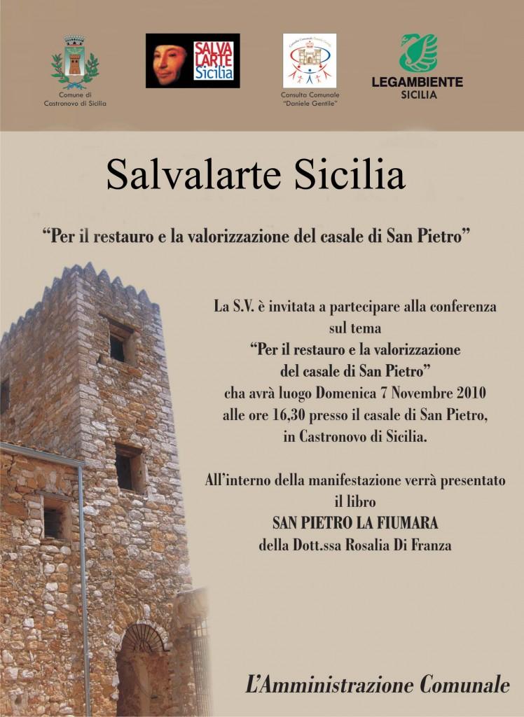 Salvalarte Sicilia per la valorizzazione del Casale di San Pietro