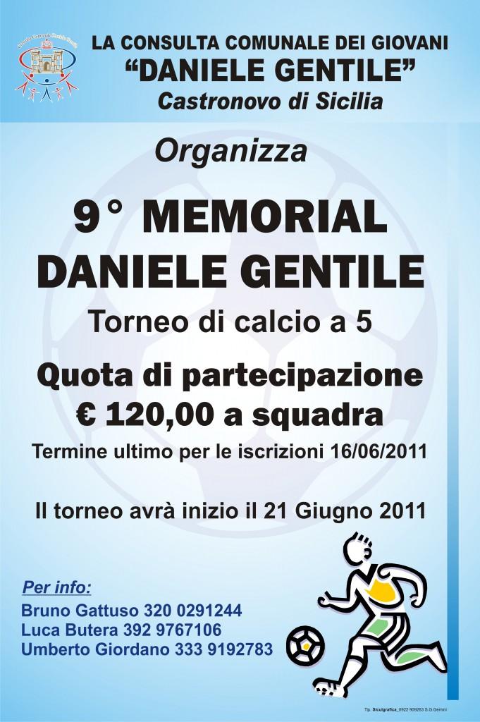 """Torneo di calcetto """"Memorial Daniele Gentile"""""""